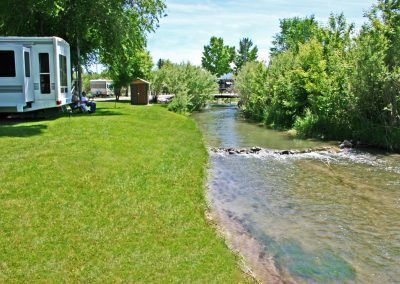 creek at Southside RV Park, Dillon, MT
